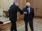 Canciller Solá con el embajador de EEUU