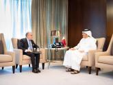Faurie junto al Ministro de Asuntos Exteriores, Mohammed bin Abdulrahman Al Thani (Foto: Gentileza Qatar)