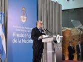 Faurie habla durante la ceremonia en el Museo de la Casa Rosada