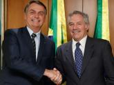 Sola con el presidente Bolsonaro