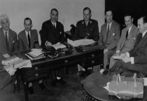 Miembros de la Comisión Nacional del Antártico, 4 de diciembre de 1946