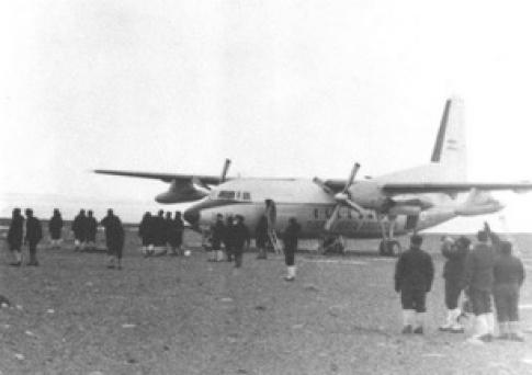 Aterrizaje inaugural de la Base Marambio el 29 de octubre de 1969