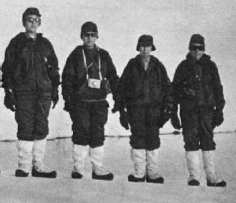 Las cuatro científicas Argentinas en Melchior en 1968