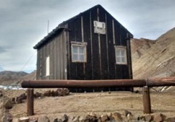 La cabaña de Cerro Nevado en la actualidad