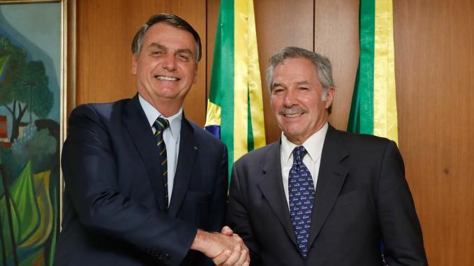 Solá con el presidente Bolsonaro