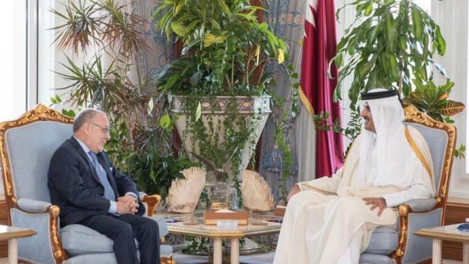 Faurie fue recibido por el Emir de Qatar, Jeque Tamim bin Hamad Al-Thani  (Foto: Gentileza Qatar)