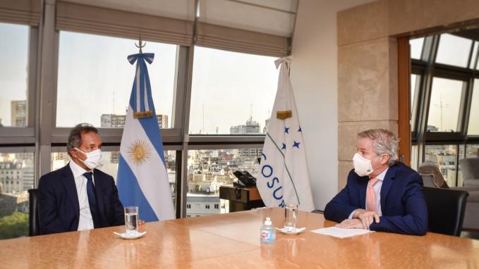 Canciller Felipe Solá y Daniel Scioli