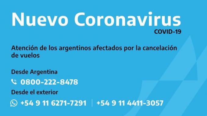 CONTACTO DE LOS CONSULADOS ARGENTINOS EN LAS SEDES DE LOS PAÍSES MÁS AFECTADOS: