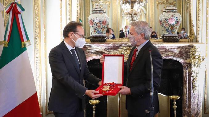 Embajador Giuseppe Manzo y Canciller Felipe Solá