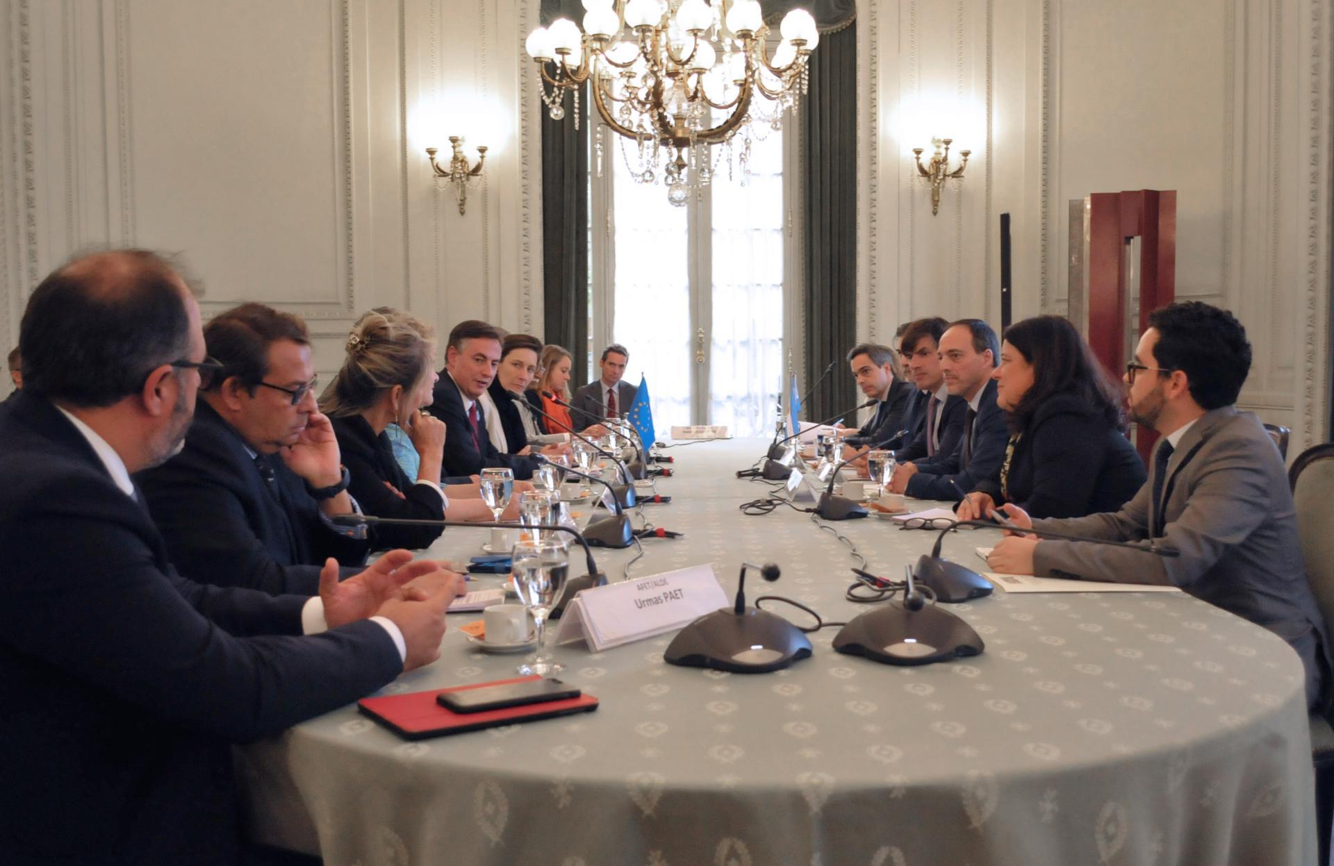 Reuni N Con Eurodiputados En Canciller A Ministerio De Relaciones Exteriores Y Culto